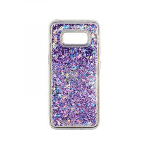 Θήκη Samsung Galaxy S8 Liquid Glitter μωβ 1
