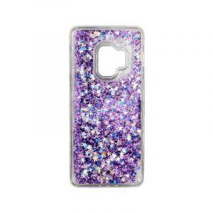Θήκη Samsung Galaxy S9 Liquid Glitter μωβ 1