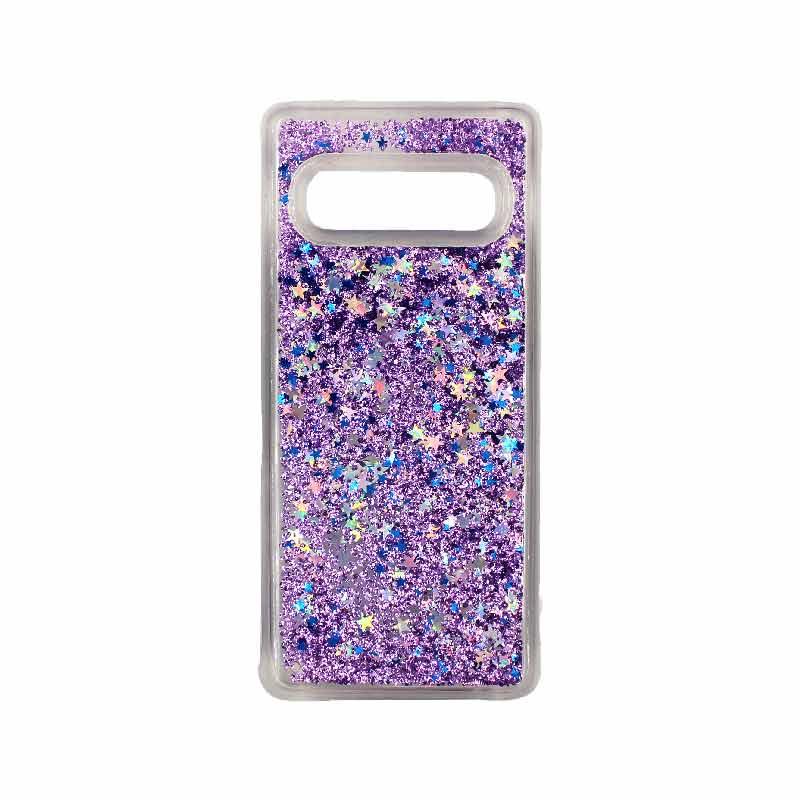 Θήκη Samsung Galaxy S10 Liquid Glitter μωβ 1