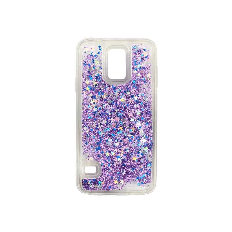 Θήκη Samsung Galaxy S5 Liquid Glitter μωβ 1