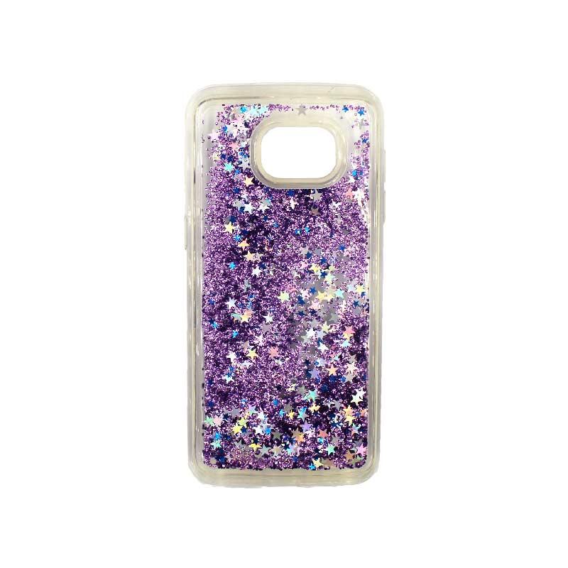 Θήκη Samsung Galaxy S7 Edge Liquid Glitter μωβ 1