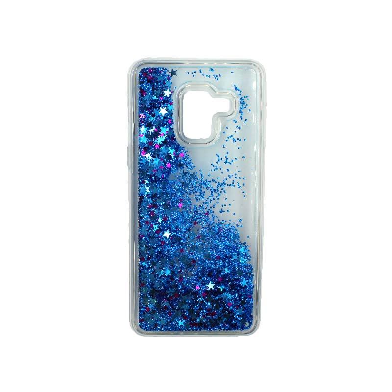 Θήκη Samsung Galaxy J6 Liquid Glitter μπλε 2