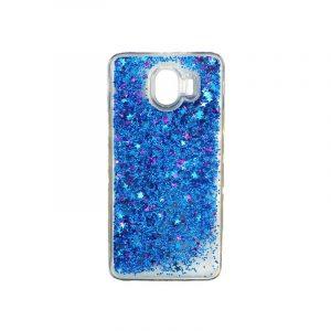 Θήκη Samsung Galaxy J4 Liquid Glitter μπλε 1