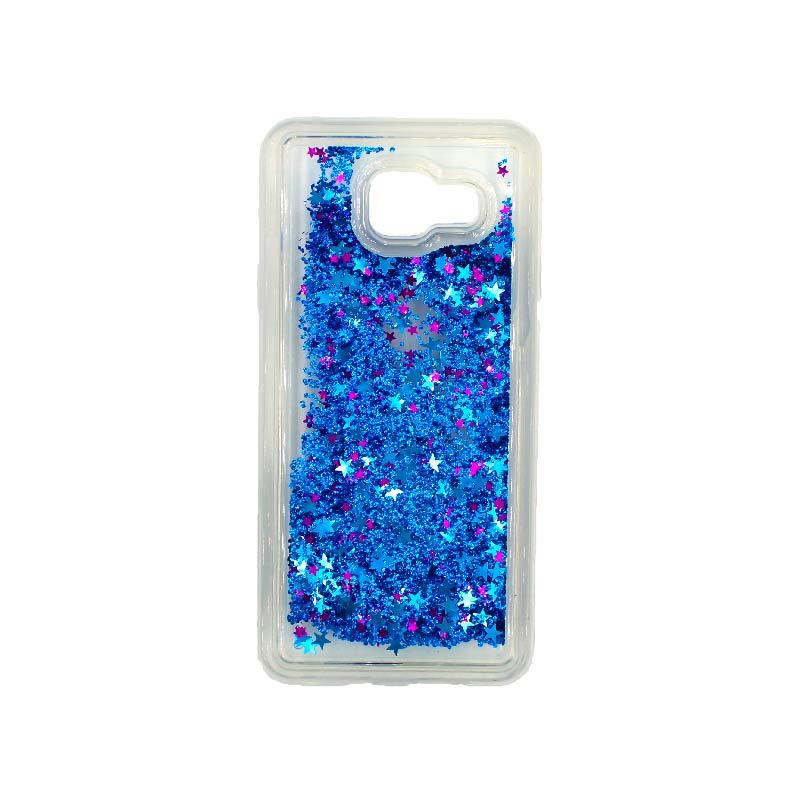 Θήκη Samsung Galaxy A3 2016 Liquid Glitter μπλε 1