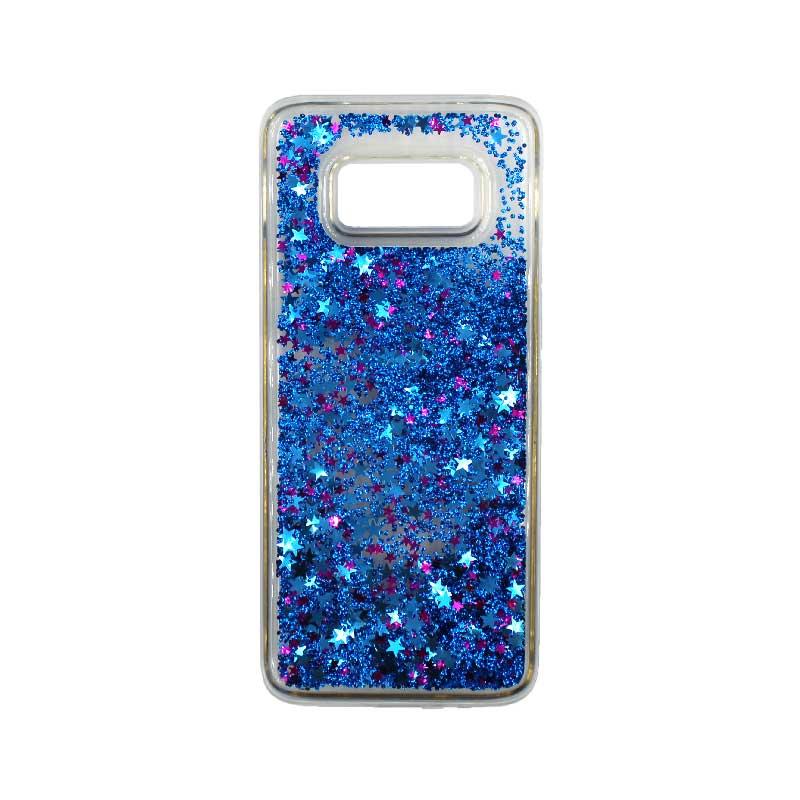 Θήκη Samsung Galaxy S8 Plus Liquid Glitter μπλε 1