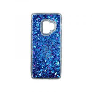 Θήκη Samsung Galaxy S9 Liquid Glitter μπλε 1