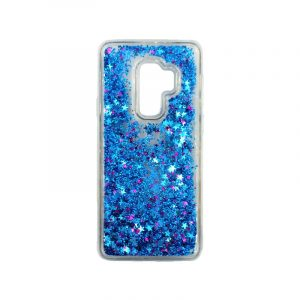Θήκη Samsung Galaxy S9 Plus Liquid Glitter μπλε 1