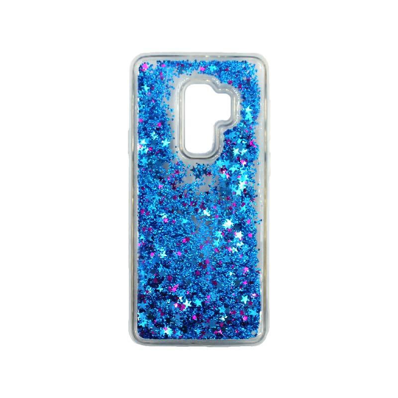 Θήκη Samsung Galaxy S9 Plus Liquid Glitter μπλε 1