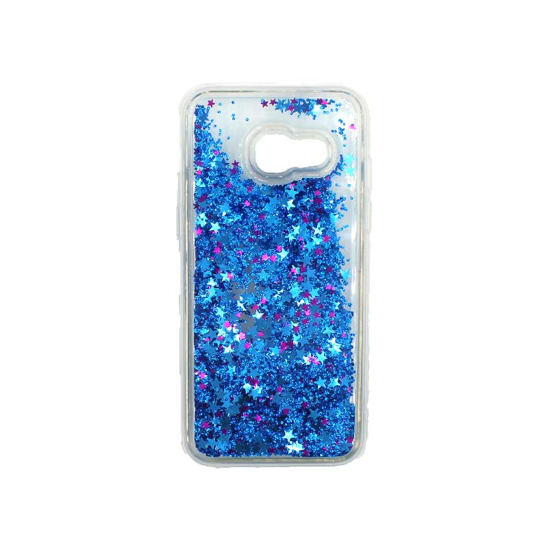 Θήκη Samsung Galaxy A3 2017 Liquid Glitter μπλε 1