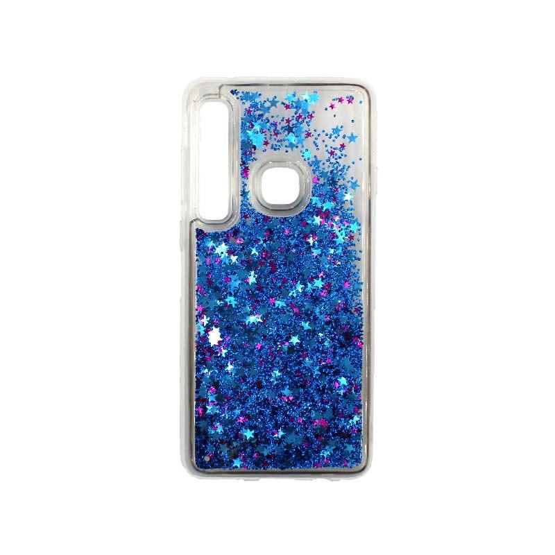 Θήκη Samsung Galaxy A9 2018 Liquid Glitter μπλε 1