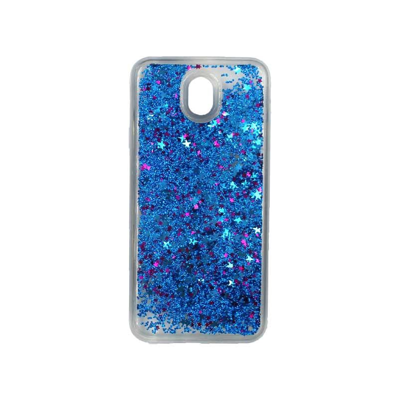 Θήκη Samsung Galaxy J5 2017 Liquid Glitter μπλε 1