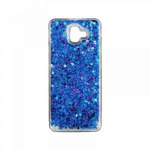 Θήκη Samsung Galaxy J6 Plus Liquid Glitter μπλε 1