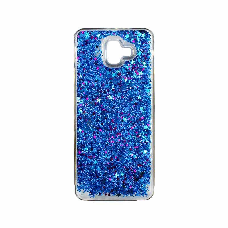 Θήκη Samsung Galaxy J6 Plus Liquid Glitter μπλε 1
