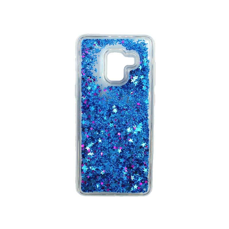 Θήκη Samsung Galaxy J6 Liquid Glitter μπλε 1