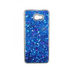 Θήκη Samsung Galaxy J4 Plus Liquid Glitter μπλε 1