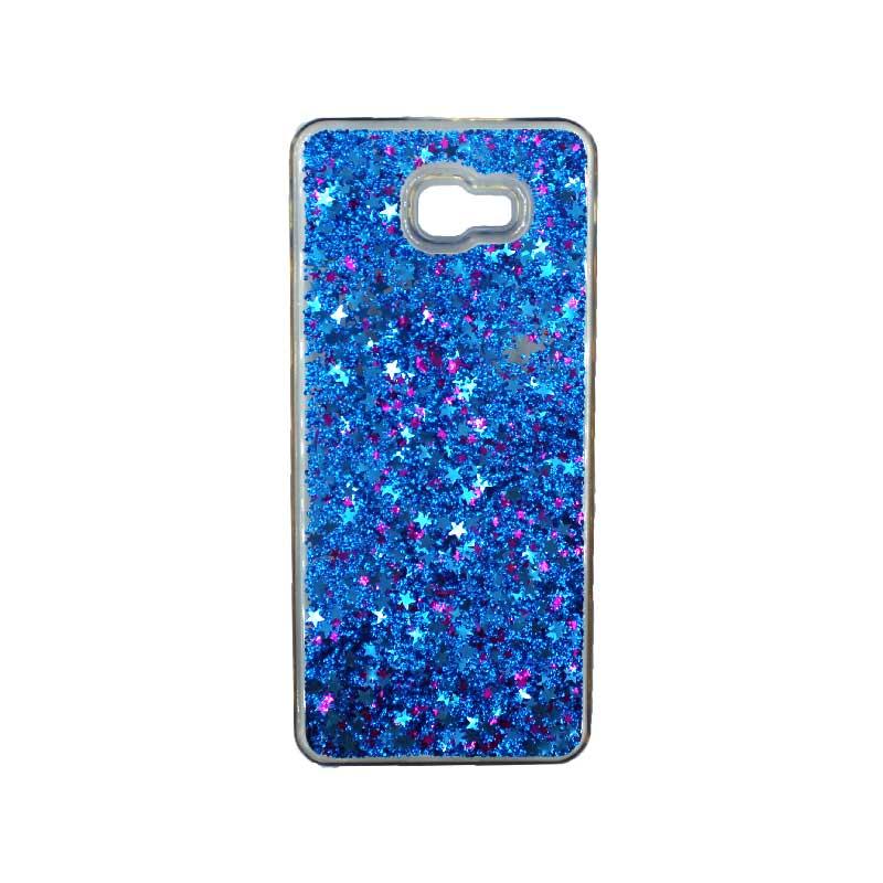 Θήκη Samsung Galaxy J4 Plus Liquid Glitter μπλε 1