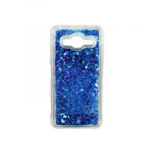 Θήκη Samsung Galaxy J3 2016 Liquid Glitter μπλε 1