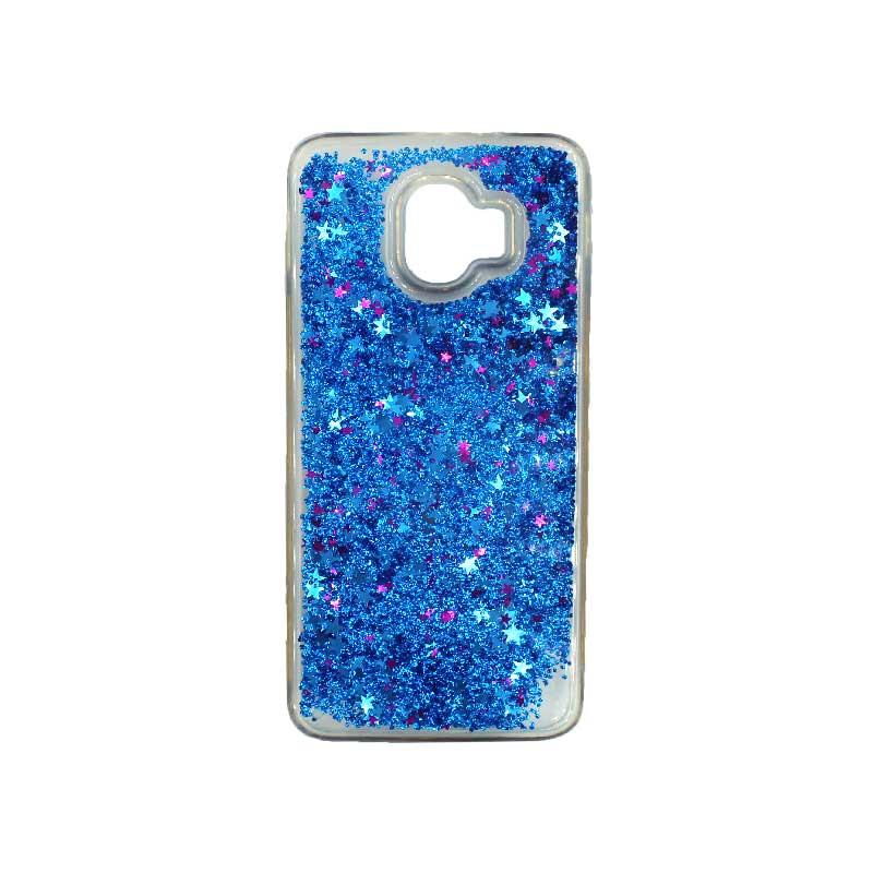 Θήκη Samsung Galaxy J2 Pro Liquid Glitter μπλε 1