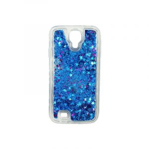Θήκη Samsung Galaxy S4 Liquid Glitter μπλε 1