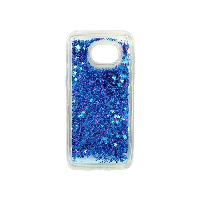 Θήκη Samsung Galaxy S7 Edge Liquid Glitter μπλε 1