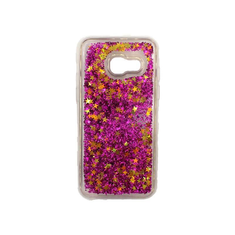 Θήκη Samsung Galaxy A3 2017 Liquid Glitter μωβ 1