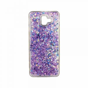 Θήκη Samsung Galaxy J6 Plus Liquid Glitter μωβ 1