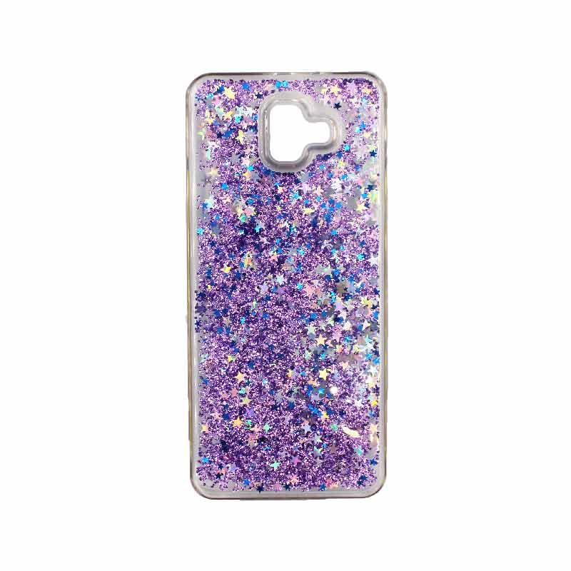 Θήκη Samsung Galaxy J6 Plus Liquid Glitter μωβ 1