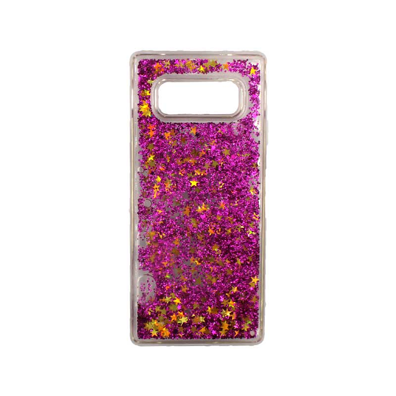Θήκη Samsung Galaxy Note 8 Liquid Glitter φούξια 1