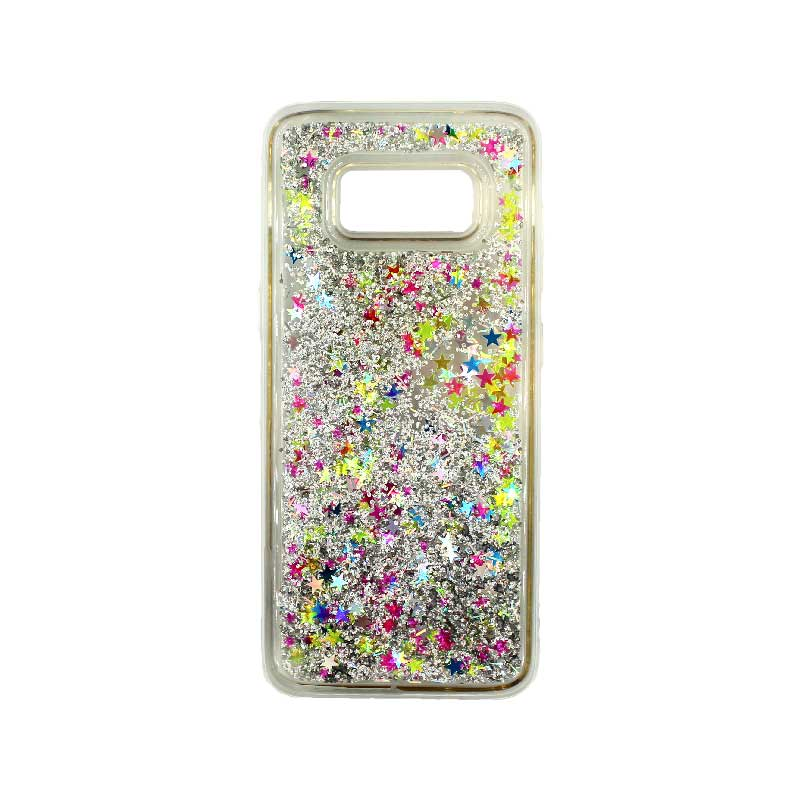 Θήκη Samsung Galaxy S8 Liquid Glitter πολύχρωμο 1
