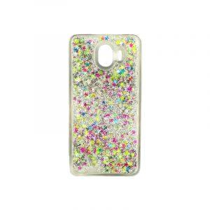Θήκη Samsung Galaxy J4 Liquid Glitter πολύχρωμο 1