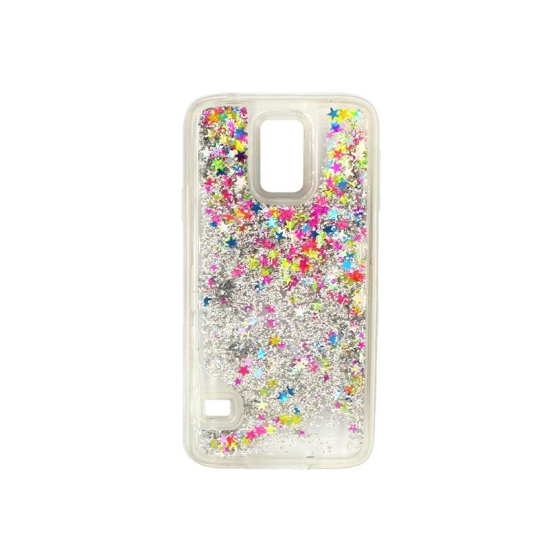 Θήκη Samsung Galaxy S5 Liquid Glitter πολύχρωμο 1