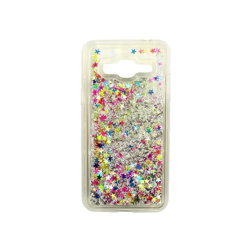 Θήκη Samsung Galaxy J3 2016 Liquid Glitter πολύχρωμο 1