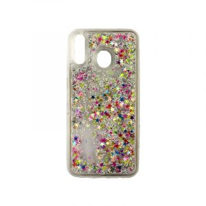 Θήκη Samsung Galaxy M20 Liquid Glitter πολύχρωμο 1