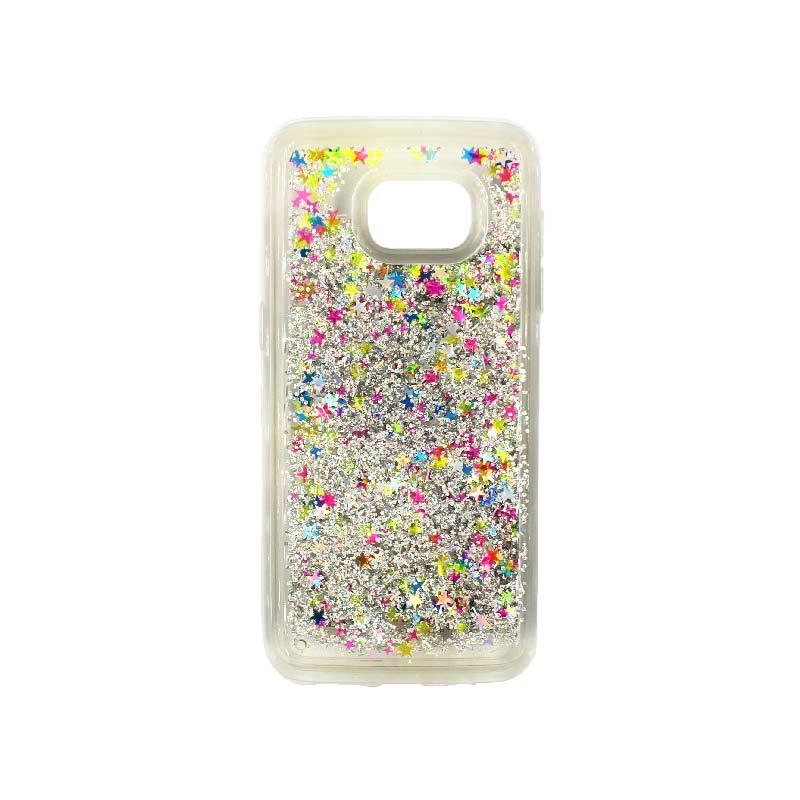 Θήκη Samsung Galaxy S7 Edge Liquid Glitter πολύχρωμο 1
