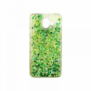Θήκη Samsung Galaxy J4 Liquid Glitter πράσινο 1