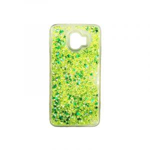 Θήκη Samsung Galaxy J2 Pro Liquid Glitter πράσινο 1