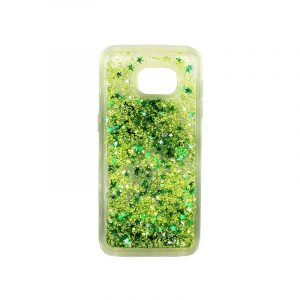Θήκη Samsung Galaxy S7 Edge Liquid Glitter πράσινο 1