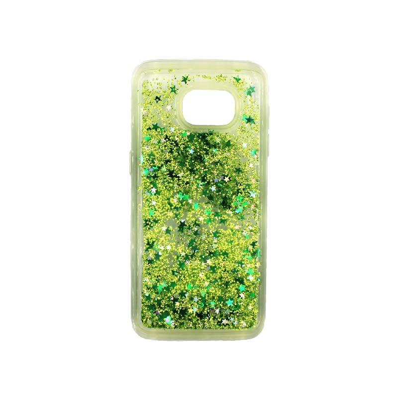 Θήκη Samsung Galaxy S7 Edge Liquid Glitter πράσινο 1