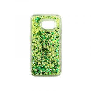 Θήκη Samsung Galaxy S6 Edge Liquid Glitter πράσινο 1