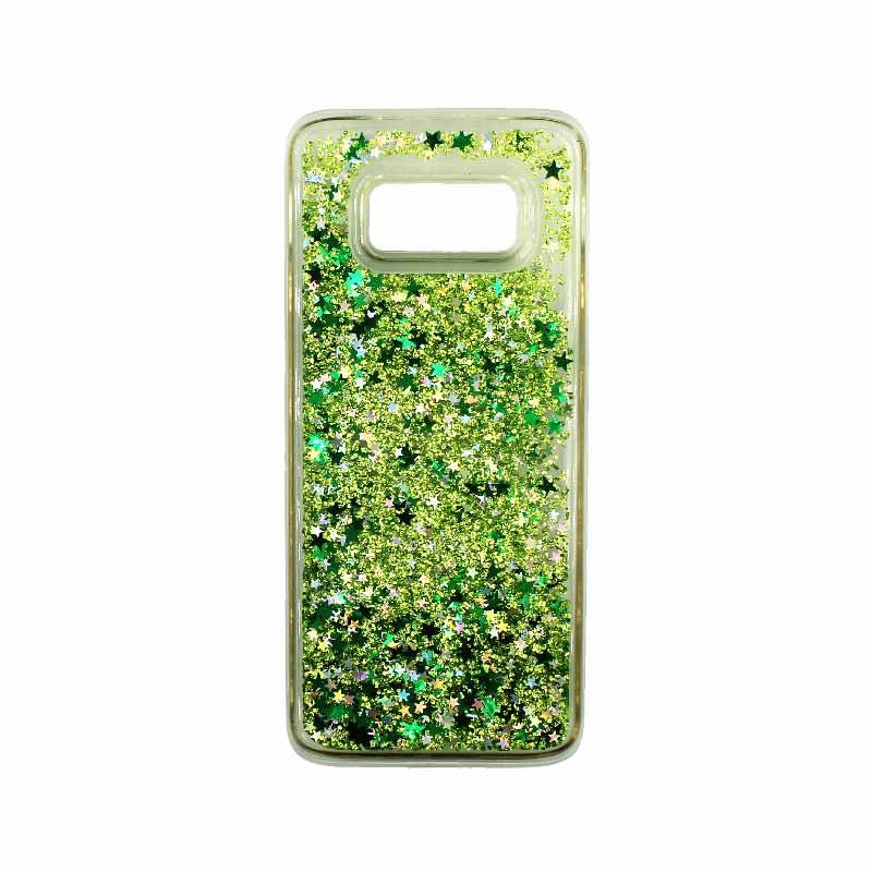 Θήκη Samsung Galaxy S8 Plus Liquid Glitter πράσινο 1