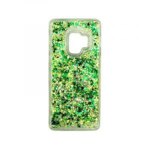 Θήκη Samsung Galaxy S9 Liquid Glitter πράσινο 1