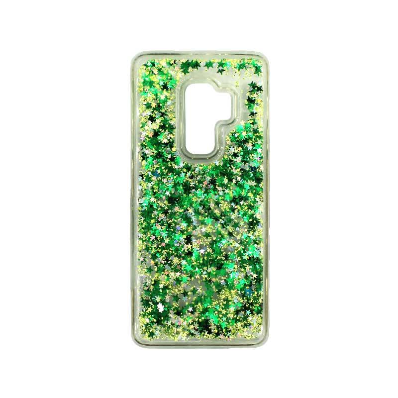 Θήκη Samsung Galaxy S9 Plus Liquid Glitter πράσινο 1