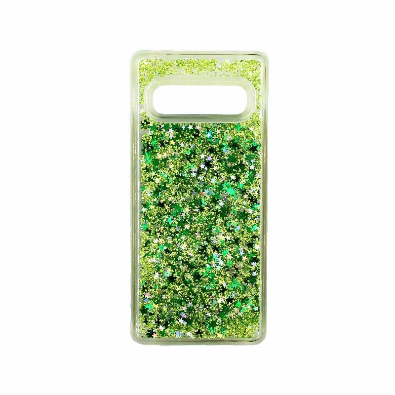 Θήκη Samsung Galaxy S10 Liquid Glitter πράσινο 1