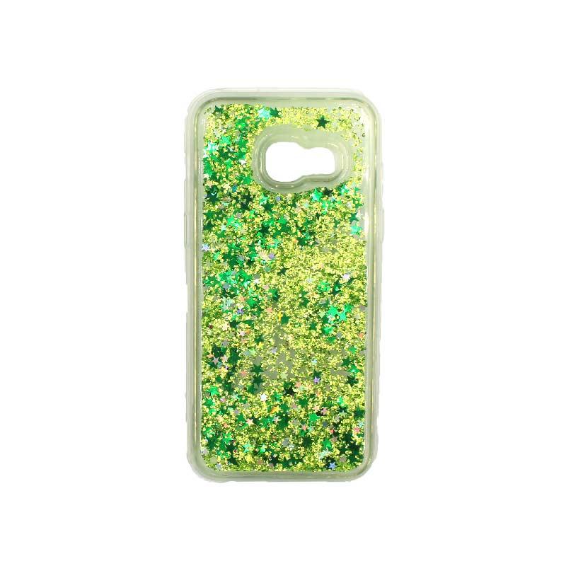 Θήκη Samsung Galaxy A5 2017 Liquid Glitter πράσινο 1