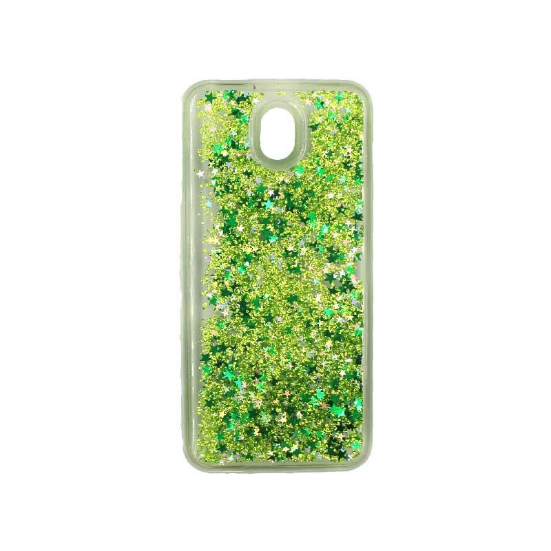 Θήκη Samsung Galaxy J3 2017 Liquid Glitter πράσινο 1