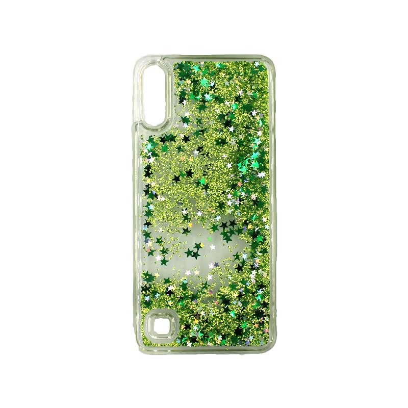 Samsung Galaxy A10 / M10 Liquid Glitter πράσινο 1