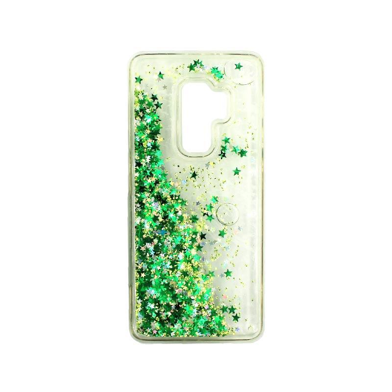 Θήκη Samsung Galaxy S9 Plus Liquid Glitter πράσινο 2