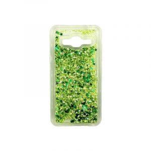 Θήκη Samsung Galaxy J3 2016 Liquid Glitter πράσινο 1