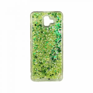 Θήκη Samsung Galaxy J6 Plus Liquid Glitter πράσινο 1