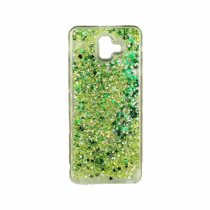 Θήκη Samsung Galaxy J6 Plus Liquid Glitter πράσινο 1